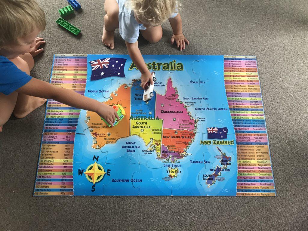puzzle z mapa